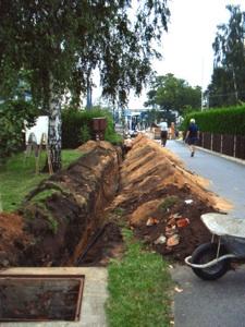 Hauptwasserleitung 2005